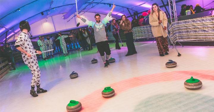 Bedrijfsuitje Curling Schaatsbaan Rotterdam