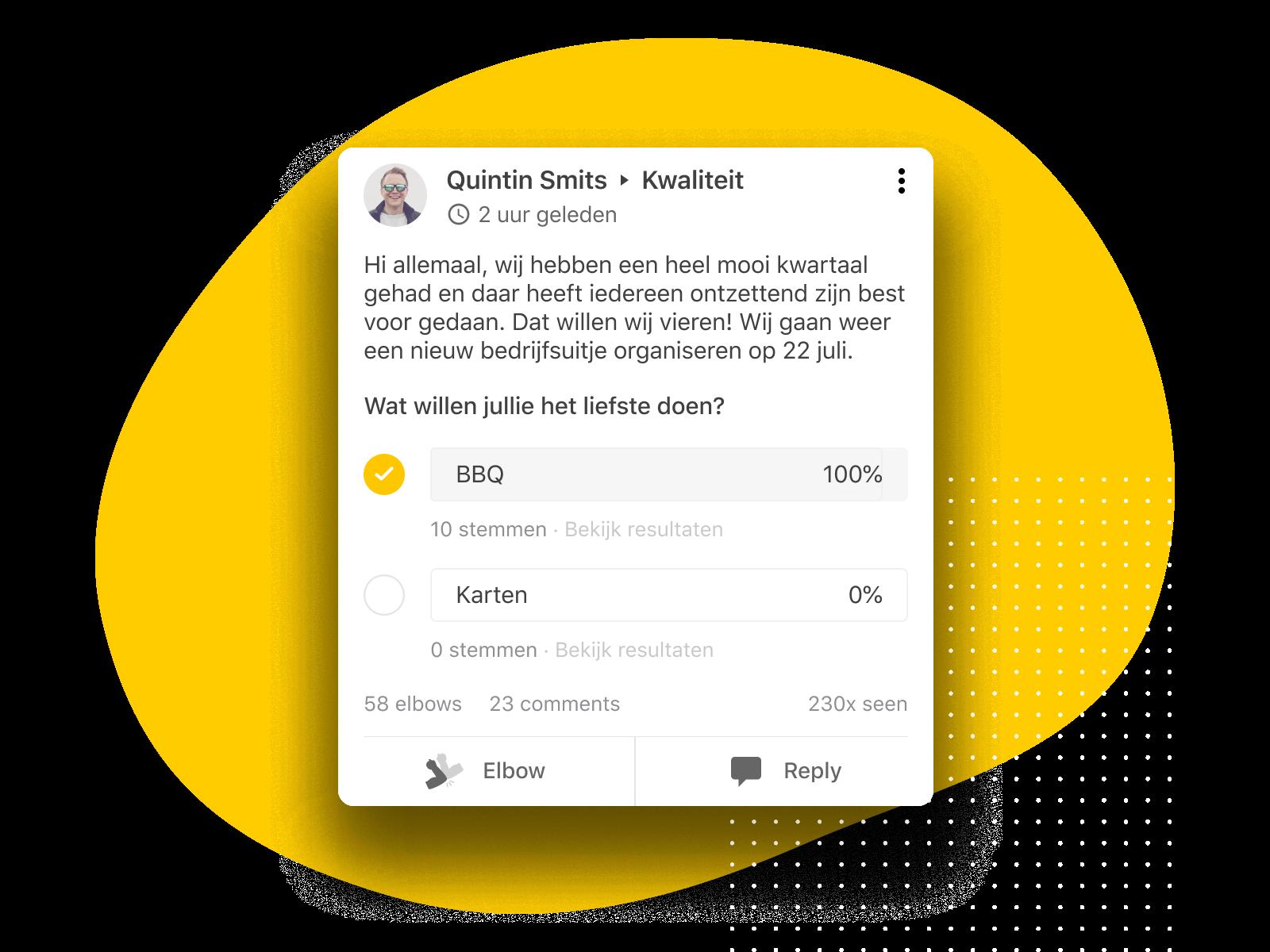 Deel successen en vraag om feedback