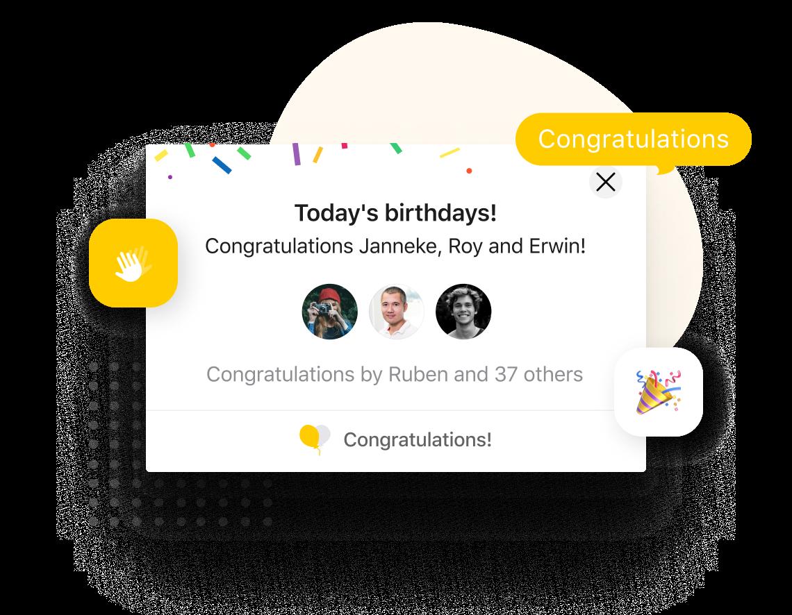 Celebrate birthdays